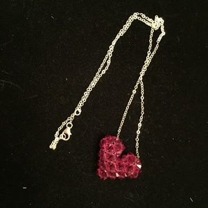 Jewelry - Crystal Red Heart  Necklace